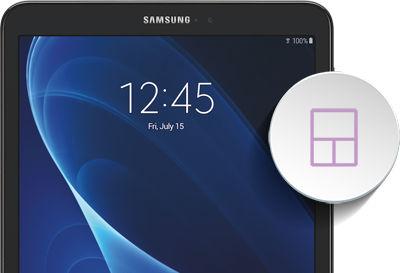 Samsung Galaxy Tab A Adding a Widget