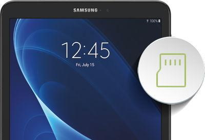 Samsung Galaxy Tab A Formatting the microSD Card