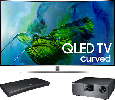 Samsung UHD Blu-ray player connect to AV receiver