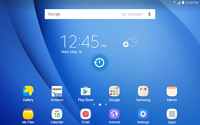 Samsung Touch and Hold Home Screen