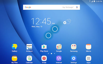 Samsung Pinch Fingers Together on Home Screen