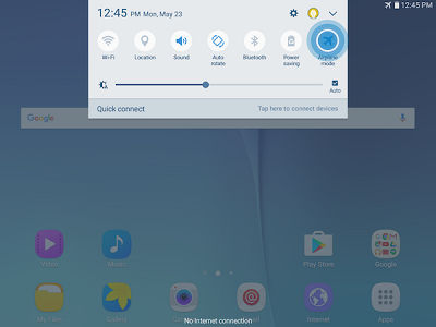 Samsung Galaxy Tab S2 Airplane Mode