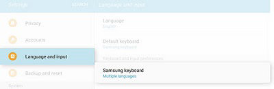 Samsung Galaxy Tab S2 Adding Languages