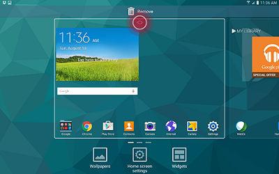 Samsung Galaxy Tab S Home Screen Customize