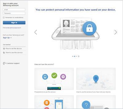 Samsung Log In Using Samsung Account