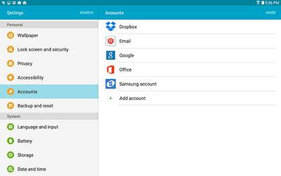 Samsung Google Account is Set Up