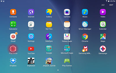 samsung tablet how to move apps