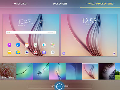 Samsung Galaxy Tab S2 Changing Home screen and lock screen