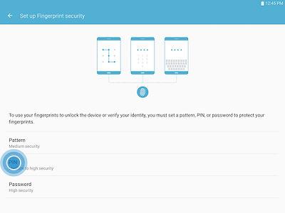 Samsung Galaxy Tab S2 Lock Screen Fingerprint