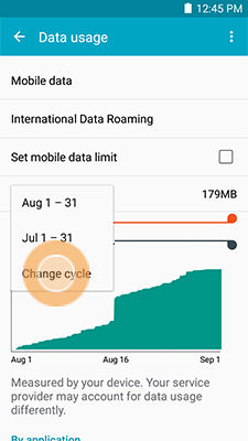 Galaxy Mega 2_Data usage_Change Data usage cycle