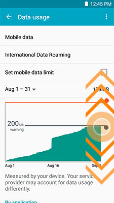 Galaxy Mega 2_Data usage_Change warning limit
