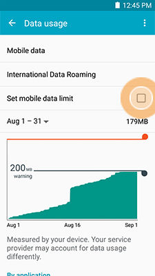 Galaxy Mega 2_Data usage_Set mobile data limit