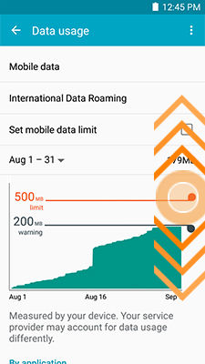 Galaxy Mega 2_Data usage_Adjust data usage limit