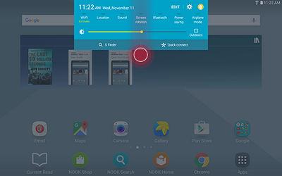 Samsung Swipe Top of Screen to Open Notification Panel