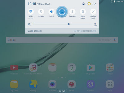 Samsung Galaxy Tab A Auto Rotate