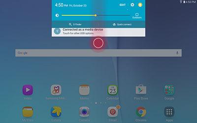 Samsung Swipe Down to Open Notification Panel