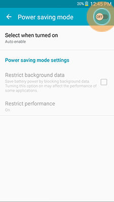 Samsung Galaxy Mega2 Configuring the Power Saving Modes