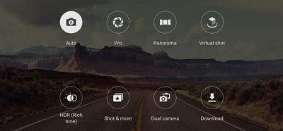 Samsung Camera Mode Options