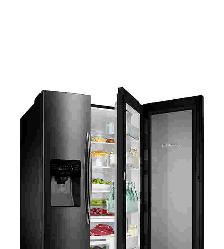 samsung side by side refrigerators counter depth french door more samsung us samsung us. Black Bedroom Furniture Sets. Home Design Ideas