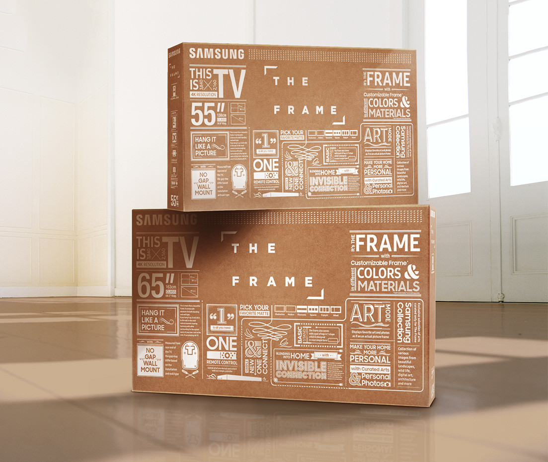 "Samsung's ""The Frame"" packaging box"