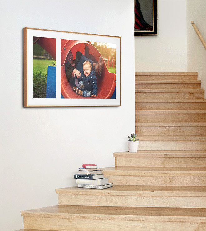 No Matte The Frame Showing A Family Photograph In A Mix Layout With Polar  White Matte Color Is