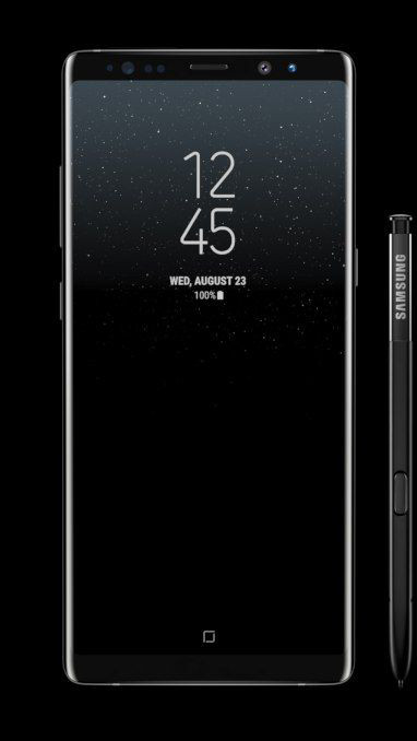Galaxy Note8 rotating 360 degrees Midnight Black
