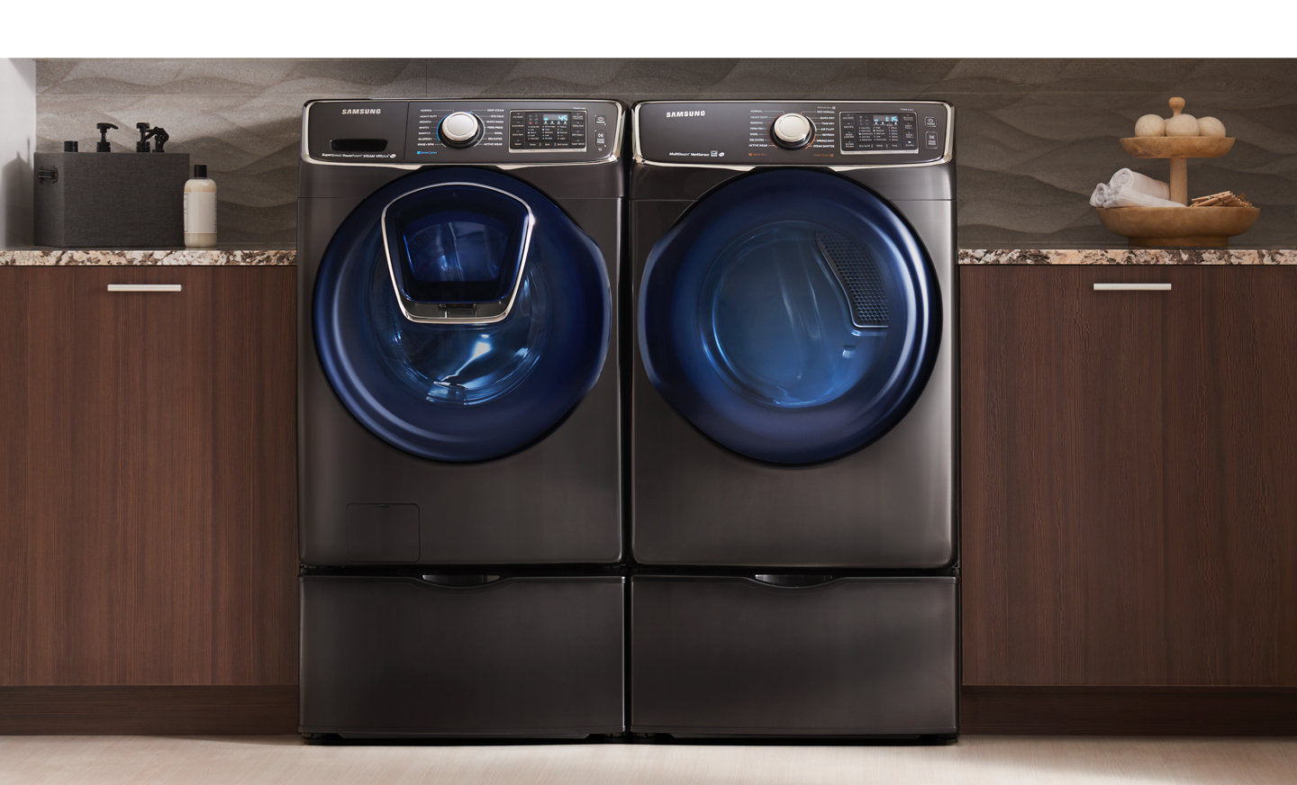 shop in dryer storage onyx at pedestals pedestal com samsung and x with lowes drawer washer pd