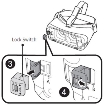 Samsung GearVR Insert Lock Device Connector
