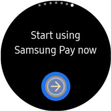 Samsung GearS3 Start Samsung Pay