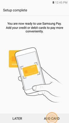Samsung GearS3 Samsung Pay Add Card