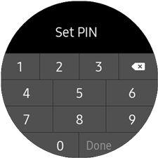 Samsung GearS3 Samsung Pay Set PIN