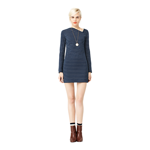 Sale alerts for Kate Spade Saturday Slant Neck Dress in Stripe - Covvet