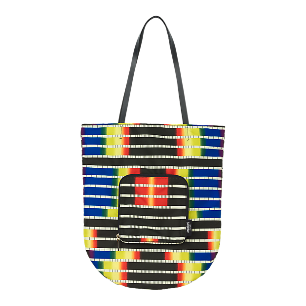 Sale alerts for Kate Spade Saturday Fold-Away Tote in Spectrum Stripe - Covvet