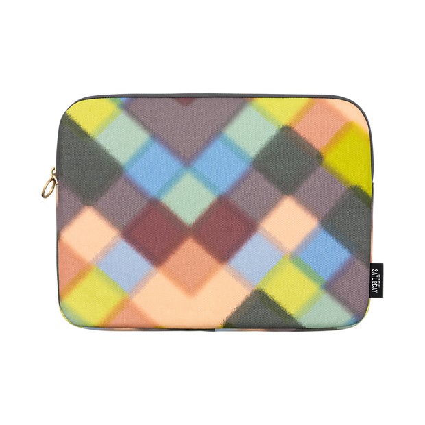 Sale alerts for Kate Spade Saturday Zip-Around Laptop Sleeve in Hazy Check - Covvet