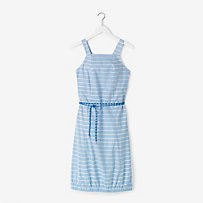 Corded Tie Dress in Lined Stripe