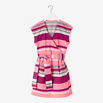 Wrap-It-Up Dress in Carnival Stripe
