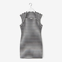 Circle-Back Slimster Ponte Dress in Stripe