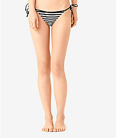 String Tie Bikini Bottom in Stripe