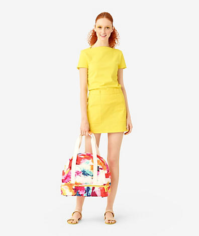 The Small Weekender Bag in Abstract