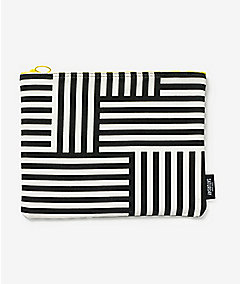 Zippered Pouch in Signature Zig Zag