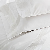 Basketweave Embroidered Sheeting