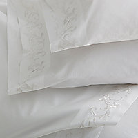 Scroll Embroidered Sheeting
