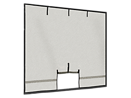 Garage Screen with Roll-Up Pipe 8 x 7 ft.