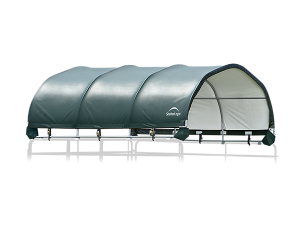 Corral Shelter 12 x 12 ft. - Green - Powder Coated