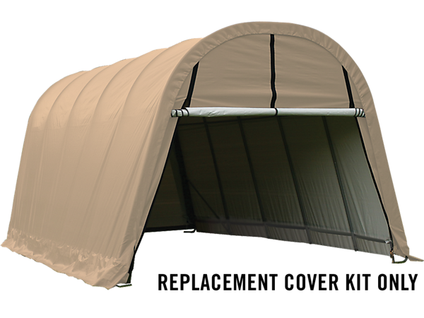 Replacement Canopy Covers For Portable Garages : Replacement cover kit for the garage in a box round