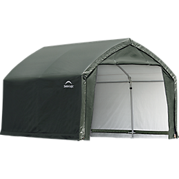 AccelaFrame Garage 9oz PE 12 x 10 x 9 ft. Green