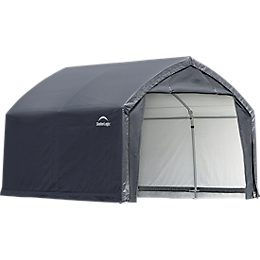 AccelaFrame Garage 9oz PE 12 x 10 x 9 ft. Gray