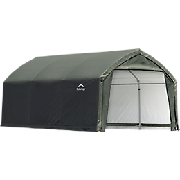 AccelaFrame Garage 9 oz PE 12 x 15 x 9 ft. Green