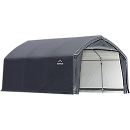 AccelaFrame Garage 9 oz PE 12 x 15 x 9 ft. Gray