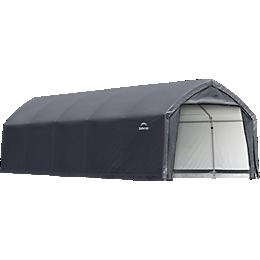 AccelaFrame Garage 9 oz PE 12 x 25 x 9 ft. Gray